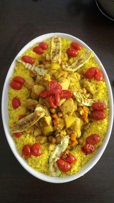 Couscous con verdure e pollo