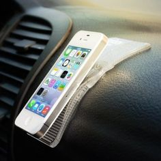 Easy peasy mounting for your iPhone in the car http://thestir.cafemom.com/technology/163786/5_cool_gadgets_that_make?utm_medium=sm&utm_source=pinterest&utm_content=thestir