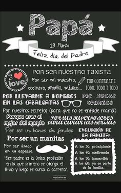 Día del Padre… - Moto Tutorial and Ideas Fathers Day Crafts, Happy Fathers Day, Daddy Day, Mother And Father, Tutorial, Mom And Dad, Diy And Crafts, Lettering, Words