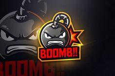 BOOMB - Mascot & Esport Logo by aqrstudio on Envato Elements Frank Album, Envato Elements, Game Logo Design, Army Wallpaper, Coreldraw, Creative Logo, Cool Logo, Logo Templates, Adobe Illustrator