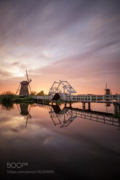 Popular on 500px : Dutch Sunset Reflections by esserfotografie