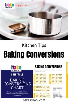 Once you know how to convert a recipe from one unity of measure to another, you will be able to bake almost anything, regardless of where the recipe was developed or how the ingredients were measured. Baking Hacks, Baking Tips, Baking Recipes, Nut Butter, Stick Of Butter, Baking Conversion Chart, How To Convert A Recipe, Baking Science