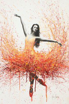 Outback Australia Dream Canvas Artwork by Ashvin Harrison Ballerina Painting, Ballerina Art, Ballet Art, Dream Painting, Painting Art, Dance Paintings, Wow Art, Dance Pictures, Art Abstrait