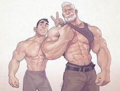 Gay muscle men massage