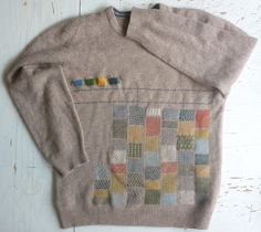 Darned / embroidered jumper by tom of holland - I have seen this at the studio of Hope and Elvis it is amazing.
