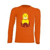 Camiseta Manga Larga Perrito Naranja