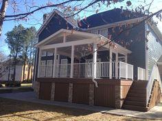 wood panels under the deck  Wyndam Complete Exterior Renovation - contemporary - porch - richmond - Decks & More