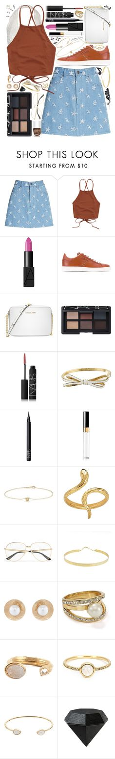 """""""{simple set • inspired by mai}"""" by kk-purpleprincess ❤ liked on Polyvore featuring Marc Jacobs, NARS Cosmetics, Tod's, Michael Kors, Kate Spade, Chanel, Jennifer Meyer Jewelry, Nails Inc., Madina Visconti di Modrone and Gucci"""