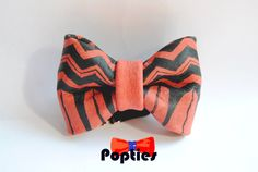 BROKEN Line  Leather BOW TIE  hand painted by Popties on Etsy