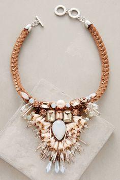 at anthropologie Kalahari Necklace - rose