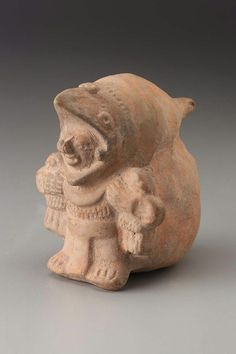 Costumed male effigy globular flute Maya or Lenca , A.D. 700–900. -1