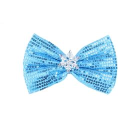 Frozen Hair Bow Frozen Bow Elsa Hair Bows Elas Bow Frozen Bows... ($8.98) ❤ liked on Polyvore featuring accessories, hair accessories, barrettes & clips, light blue, alligator hair clips, hair bows, rhinestone hair accessories, sparkly hair clips and hair clip accessories