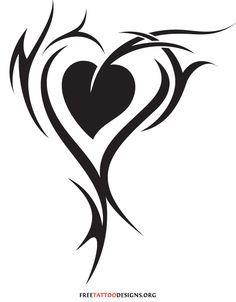 Tribal Heart Tattoos on Pinterest | Heart Tattoos, Tattoos and ...