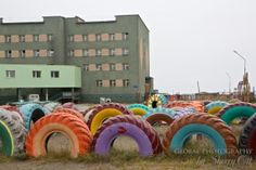 Russian Far East Lavrentiya - adding color to the landdscape