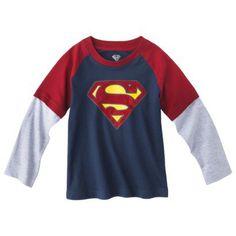Superman Infant Toddler Boys Long-Sleeve Tee $9