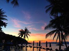 Insta / k1suki: #sunset #KohSamui #beach #travel #vacation #thailand #resort