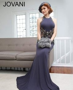 50e739e42e Fitted exposed back gown 92992 Jovani Dresses