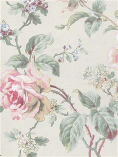 Pink and Blue Swansea Floral Wallpaper, SBK22134