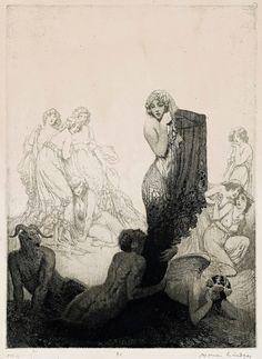 Norman Lindsay - The Grey-Eyed Girl, 1913