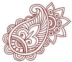 "Free Mehendi Design Other ""zentangle"" design, possible fsl freebie Henna Patterns, Zentangle Patterns, Zentangles, Henna Tattoo Designs, Mehndi Designs, Paisley Design, Paisley Pattern, Henna Art, Hand Henna"