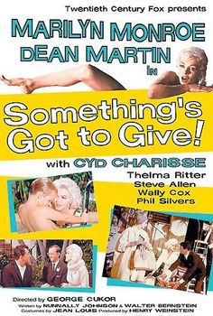 """Vintage Marilyn """"Something's Got To Give"""" movie poster"""