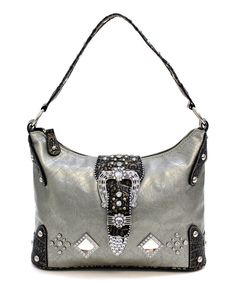 This Pewter Myrtle Hobo by d'Orcia is perfect! #zulilyfinds
