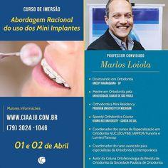 Aracaju e região! O prof. Marlos Loiola estará levando a Ortodontia Contemporânea para Sergipe na próxima semana. Imperdível e perto de vocês