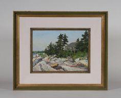 Parker Gamage  'Coast of Maine' - Circa 1940's American Impressionist Painting #Impressionism