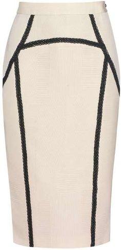 Braid Detail Pencil Skirt