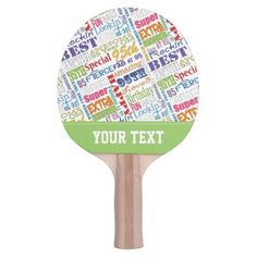 Special 95th Birthday Party Personalized Monogram Ping-Pong Paddle - black and white gifts unique special b&w style