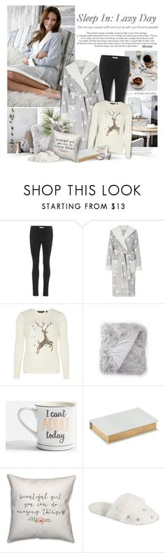 """Sleep In: Lazy Day"" by thewondersoffashion ❤ liked on Polyvore featuring Velvet, John Lewis, Dorothy Perkins, Nordstrom Rack, Topshop, Trilogy, House Doctor, PBteen, LazyDay and DorothyPerkins"