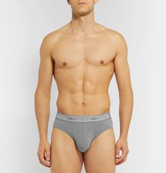 Calvin Klein Underwear Stretch-cotton Briefs In Gray Calvin Klein Men Underwear, Mr Porter, How To Know, Briefs, Tights, Slim, Mens Fashion, Gray, Swimwear