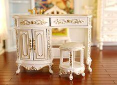 Dollhouse Miniature Furniture Tea Coffee Table Model landscape Toy FL