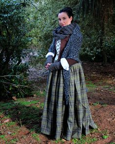 Claire (Outlander) Costume by Dinah Kirby  Scarf and gloves by OliveandArrowKnits