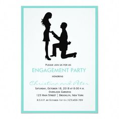 Shop Modern Tiffany Blue Engagement Party Invitation created by PurplePaperInvites. Modern Wedding Favors, Wedding Gifts For Guests, Wedding Favors Cheap, Invitation Design, Custom Postage Stamps, Engagement Party Invitations, Rustic Invitations, Create Your Own Invitations