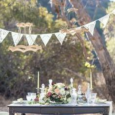 laser cut lace wedding bunting, perfect romantic garland for indoor or outdoor bunting perfect venue decor, uk Lace Bunting, Lace Garland, Wedding Bunting, Wedding Lanterns, Garland Wedding, Boho Wedding, Wedding Vintage, Fabric Bunting, Garlands