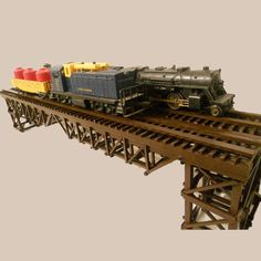 Handcrafted Wooden Bridge for Lionel O scale model trains by DaddysToyTrains, $200.00