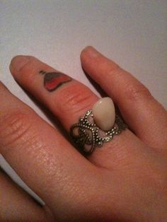 I can't stop laffing over this!!  Denture Human Tooth Adjustable Ring  by BlackVelvetCreations