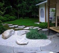 garten mit steinen gestalten zaun pflanzen gras | mein♡schöner, Gartenarbeit ideen