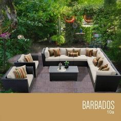 TKC Barbados 10 Piece Outdoor Wicker Patio Furniture Set ** Offer can be found by clicking the image