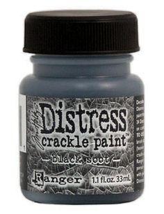 RANGER: TIM HOLTZ - DISTRESS CRACKLE PAINT - BLACK SOOT Distress Crackle Paint er en maling som lager en eldet effekt - krakelering.    http://www.kreativscrapping.no/categories/tim-holtz-distress-crackle-paint