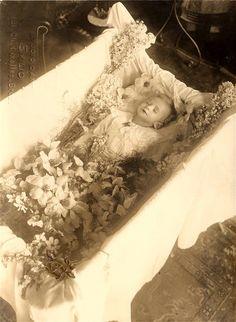 Sweet lil' blond child, postmortem.