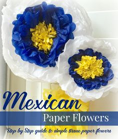 DIY Mexican paper flowers tutorial  Super easy- LOVE the bright colors! #SienteGlade ad