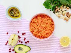 La bonne équation, pour twister vos carottes râpées à volonté ! Hummus, Ethnic Recipes, Blog, Lemon, Recipes, Blogging