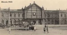 Estación de ferrocarril de Almería (1920) Louvre, Building, Travel, Postcards, Exterior Design, Parking Lot, Monuments, Towers, Cities