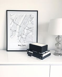 Black and white print of New York. Map of New York by Mujumaps. Whats your favourite place? Create and customise a map print of anywhere in the world.