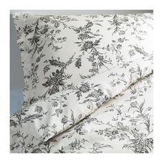 IKEA - ALVINE KVIST, Påslakan 1 örngott, 150x200/50x60 cm, , Känns krispiga och svala mot din hud eftersom de är gjorda av bomullspercale, tätvävt av fint garn.Extra mjuka och hållbara eftersom sängkläderna är tätvävda av finare garn.Knapparna håller täcket på plats.