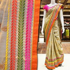Visit Pothys Boutique, G N Chetty Road, T Nagar, Chennai, to view the finest collection of designer sarees.