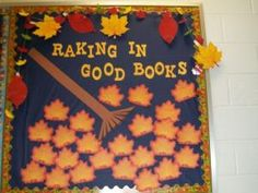 Have students/teachers/parents write book recommendations on the leaves.