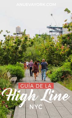 High Line Guide York. Walk the elevated park and discover its secrets. Lower Manhattan, Top Travel Destinations, Places To Travel, High Line Ny, Travel Around The World, Around The Worlds, Mexican Garden, New York Street Style, I Love Nyc